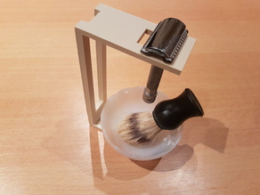 Stand Safety Razor - Bowl & Badger Shaving Brush