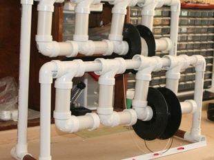 Eight Filament Reel Holder from PVC Pipe