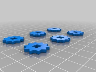 Build Platform Adjustment Thumb Nut for Square Nuts