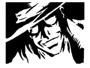 Hellsing Alucard stencil