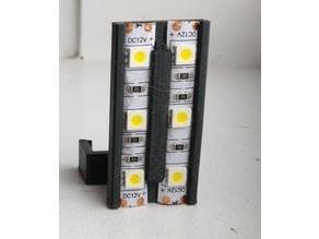 Double-gang LED strip holder for ORION/Rostock Max
