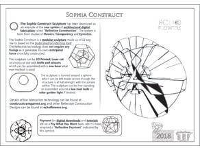 Echoflowers.Sophia Construct.Assembly Kit & Instructions. 8 x A4 Printout Jpeg
