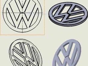 Volkswagen logo d=100mm [VW]