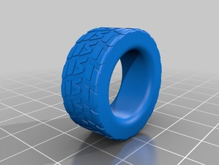 A collection of tire tread rings
