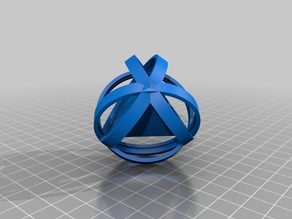 Rotatable regular tetrahedron