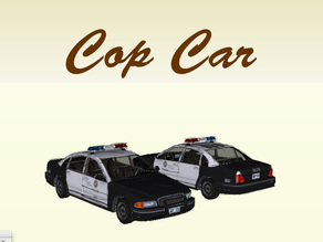 Cop Car for #WeLoveCars collection by Whatakuai