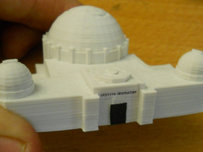 Griffith Observatory scale model (first draft)