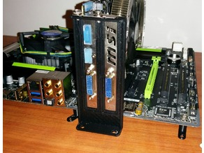 Dual PC slot mount