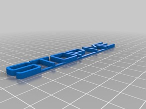 My Customized 3D name plate02