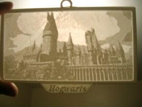 Hogwarts Lithopane