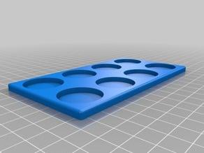 25mm round base movement tray x 8
