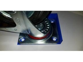Bohrschablone für 125mm Räder und 18mm Platte
