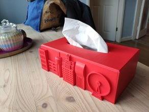 Cityscape Tissue Box Cover