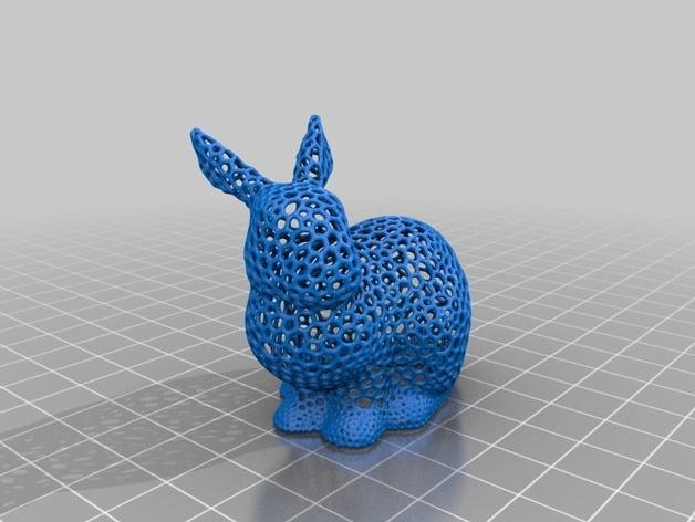 Meshmixer Bunny Voronoi by Lavan - Thingiverse
