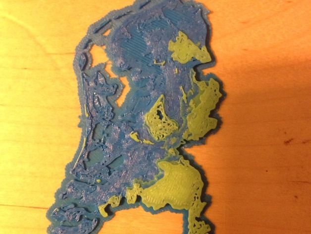 Netherlands Topographic 3D Map MakerEdChallenge 20 by bulent