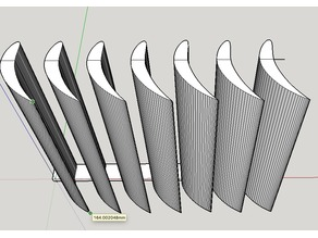 Airfoil Turning Vanes Air Vent Deflector Louvers (Fixed Angle)