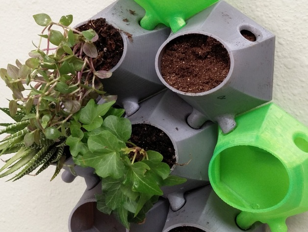 Wallony Vertical Planters By Uptonak Thingiverse