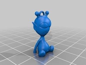 Alien3D Mascot Keychain