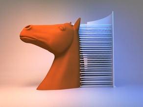Hairy Horse (single and dual extrusion)