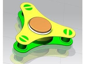 Wheel four bearing fidget spinner