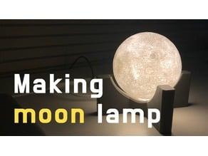 Making moon lamp