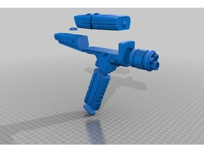 Phaser from Startrek Discovery with removeable smaller phaser (Easy Print)