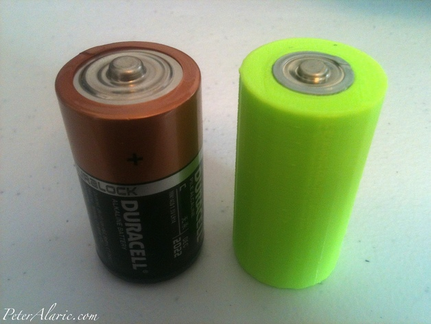 Battery Adapter AA To C Cell By Peteralaric