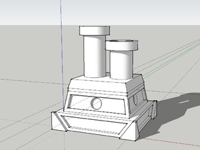 Fancy Chimney Cap for 28mm Table Top Buildings