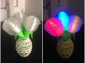 Light-up Rose with Stem