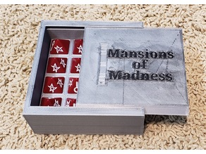 Mansions of Madness dice box with Lid