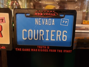 Fallout New Vegas license plate