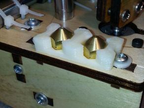 Printrbot Extruder Nozzle Caddy