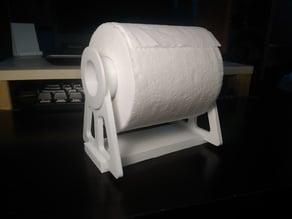3D printed desktop toilet paper support