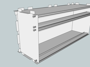 Eurorack Lasercut Case 84HP 4U 133mm 10mm Acrylic