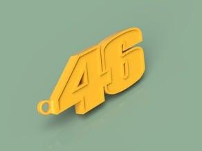 VR-46 logo and keyring
