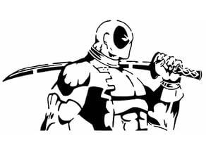 Deadpool stencil 7