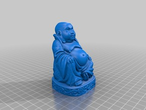 Buddha Hi-Res statue (Flat Bottom)