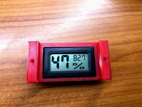 Digital Hygrometer Holder for Plastic Bin