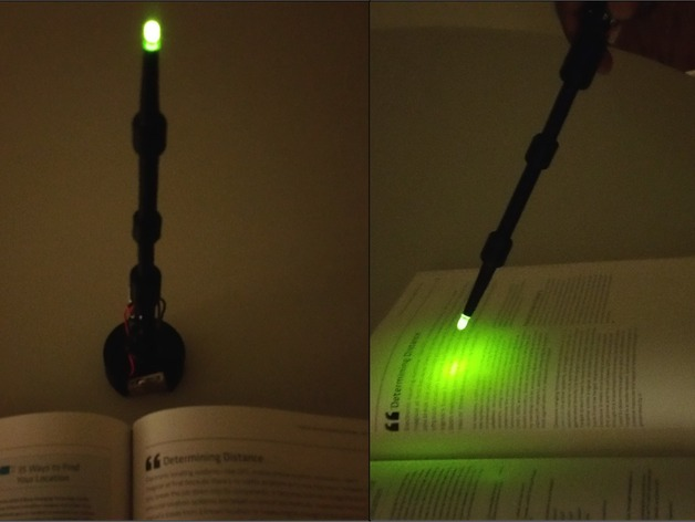 Nite lite elder wand by karthikbadam thingiverse for Elder wand stand