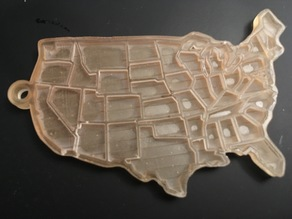 US map keychain (separate states)