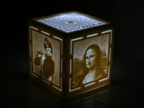 [PICtart] Lightcube with Lithophane Paintings