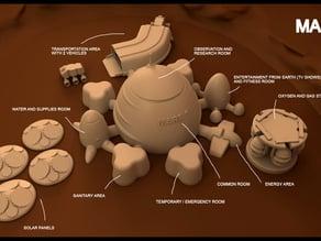 Mars base Inside Victoria Crater