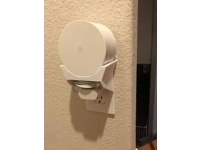 Google Wifi Mesh Point Shelf Mount - Integrated Power Outlet Plate