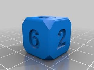 6 Sided Numeric Die