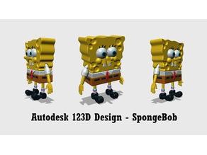 Autodesk 123D Design - SpongeBob SquarePants