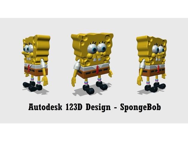 Autodesk 123D Design   SpongeBob SquarePants by 3DIYOriginal   Thingiverse. Autodesk 123D Design   SpongeBob SquarePants by 3DIYOriginal