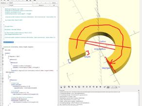 Arc module for openscad