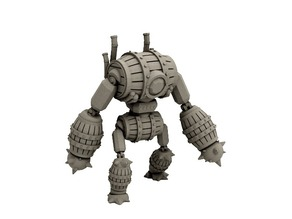Barrel Golem (18mm scale)