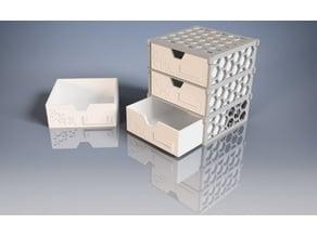 Modular Drawer-Box with hexagonal pattern