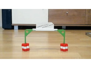 Checkpoint gate for small R/C- or slotcars